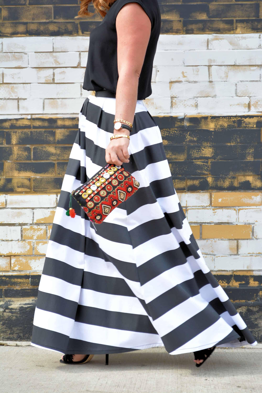 stripe maxi skirt giveaway a affair