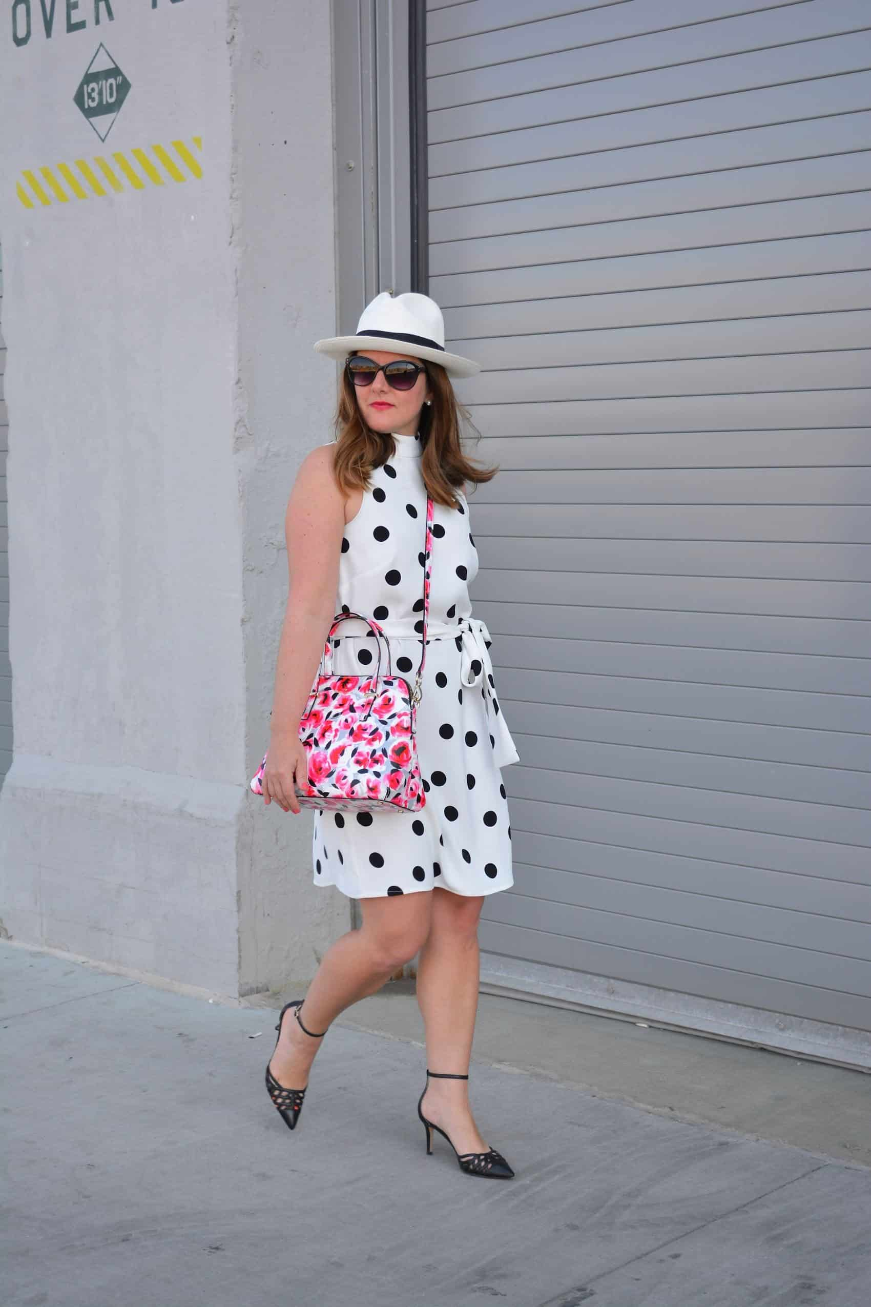Belted Polka Dot Dress A Lily Love Affair