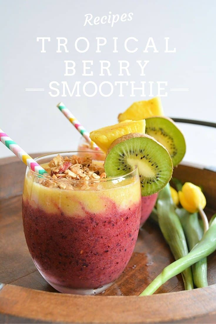 Tropical Berry Smoothie, Brunch, Smoothie, Mother's Day, Healthy Breakfast