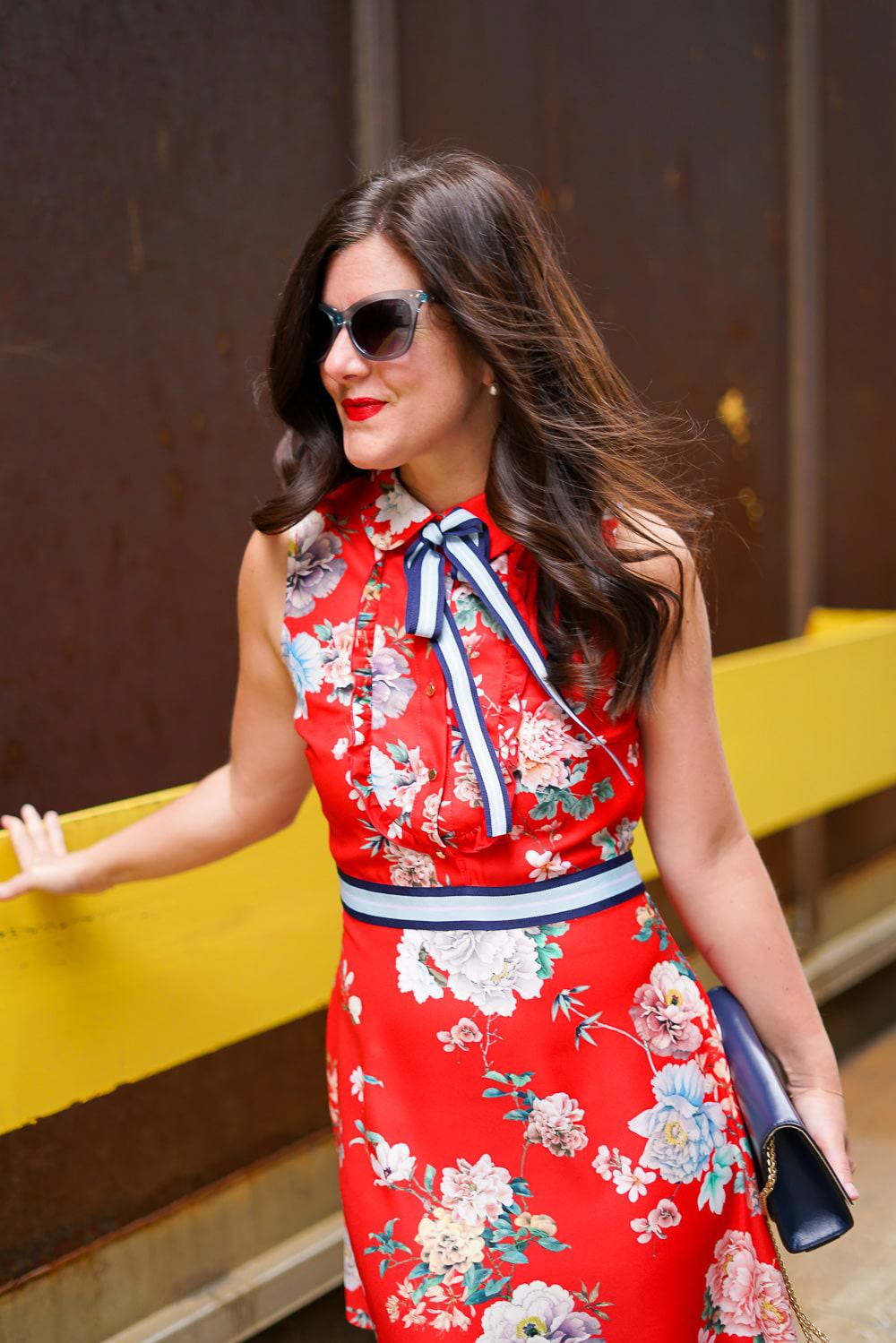 ASOS floral shift dress, A Lily Love Affair, Chicago Blogger