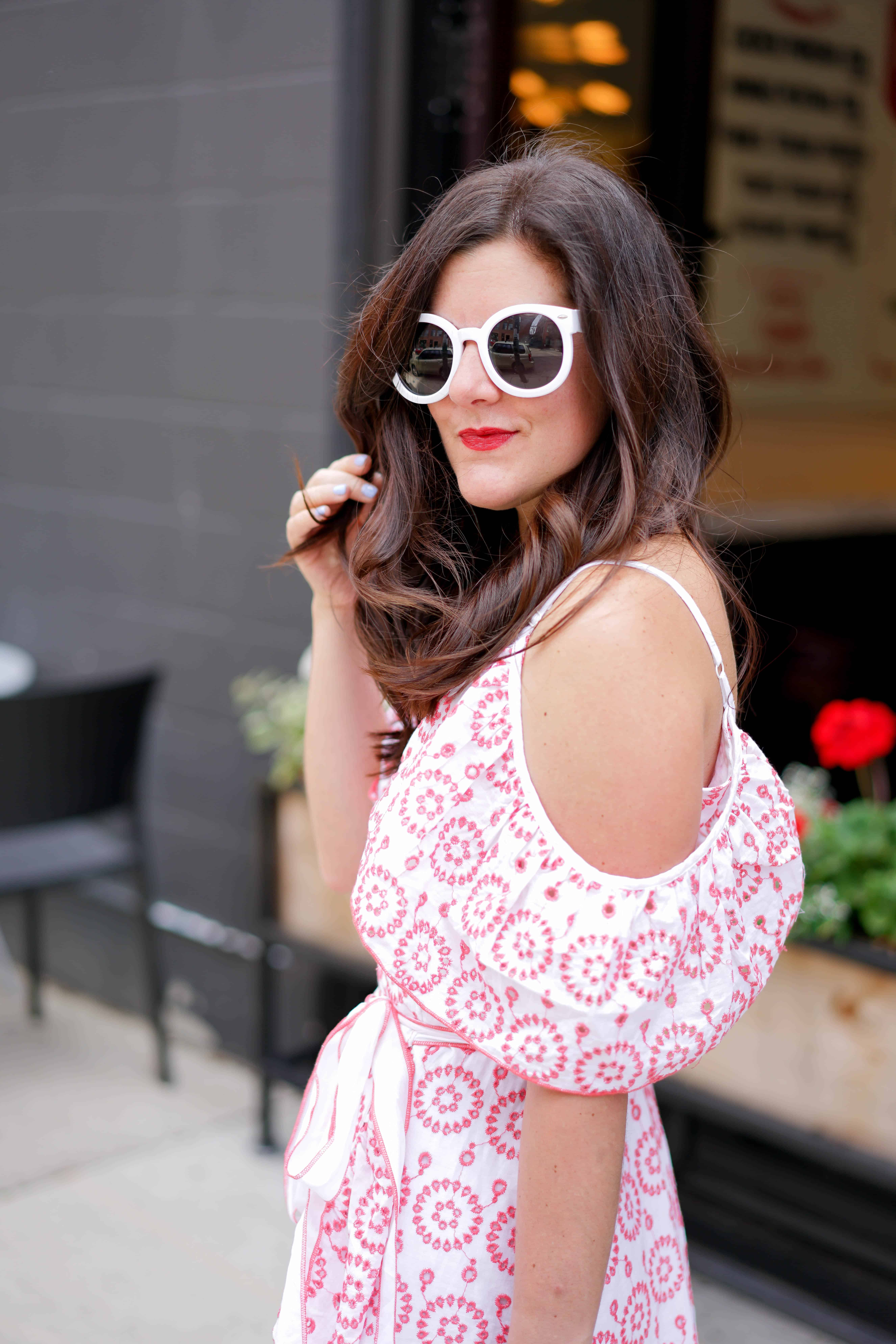 Embroidery Wrap Dress, A Lily Love Affair, Summer Style, Chicago Blogger
