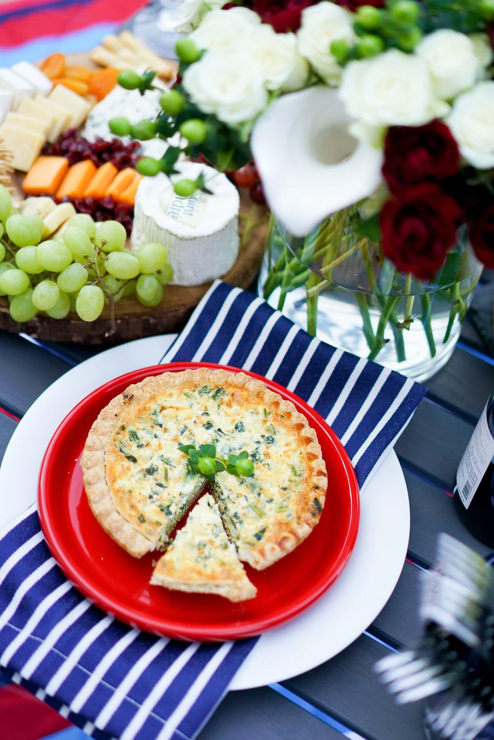 A Lily Love Affair, Chicago Blogger, Bastille Day Celebration, Bastille Day Party Ideas, French Wines, quiche recipe