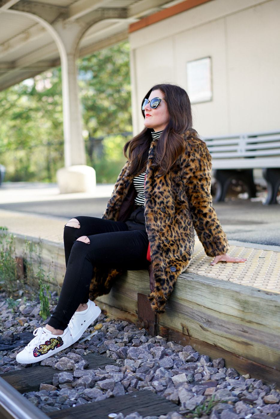 Fall Trend Favorites, A Lily Love Affair, Chicago Blogger, Ash Embroidered Sneakers, J.Crew Tissue Turtleneck, J.Crew Leopard Coat