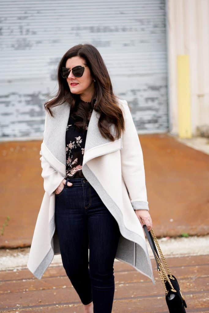 Wrap Coat, A Lily Love Affair, Chicago Blogger, Fall Style, Winter Style, How to style a wrap coat, lucky brand coat
