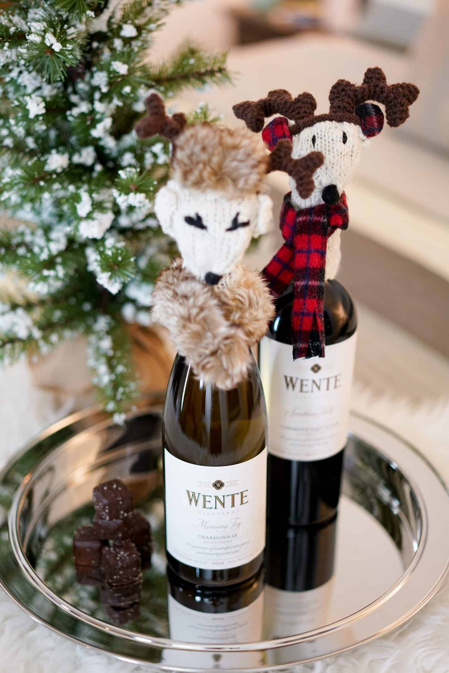Holiday traditions, Wente Wines, J.Crew plaid scarf, A Lily Love Affair, Chicago Blogger, Gap stripe pajamas