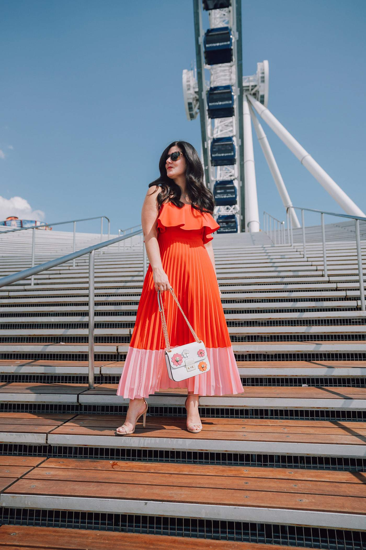 Strapless Color-Blocked Dress, Chicago Blogger, A Lily Love Affair, Navy Pier