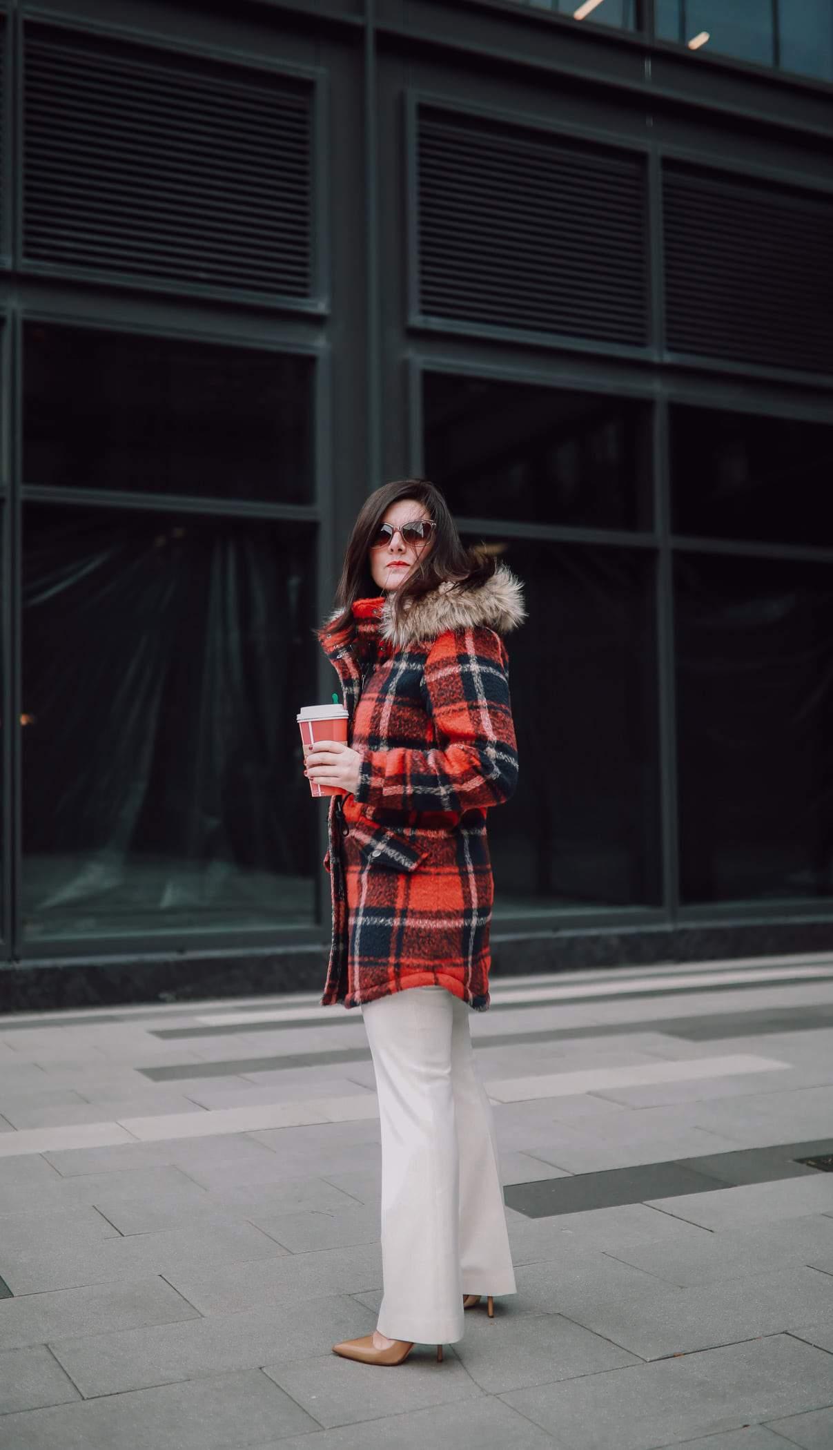 A Lily Love Affair, Chicago Blogger, 2018 Winter Bucket List, American Eagle Plaid Coat