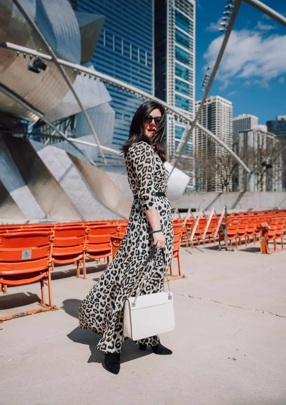 The Long Sleeve Leopard Dress You Need This Spring