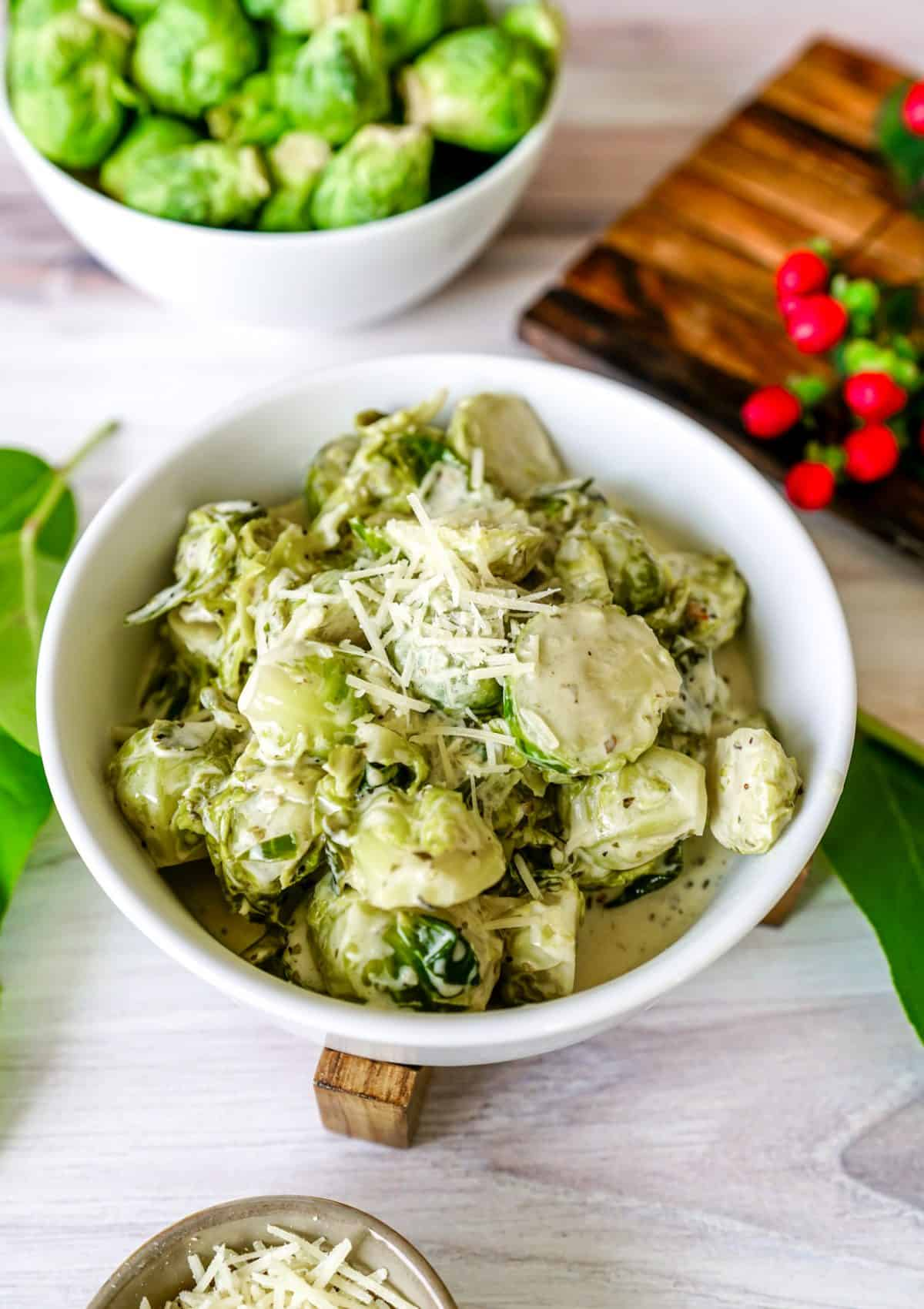 Instant Pot Creamy Parmesan Garlic Brussel Sprouts