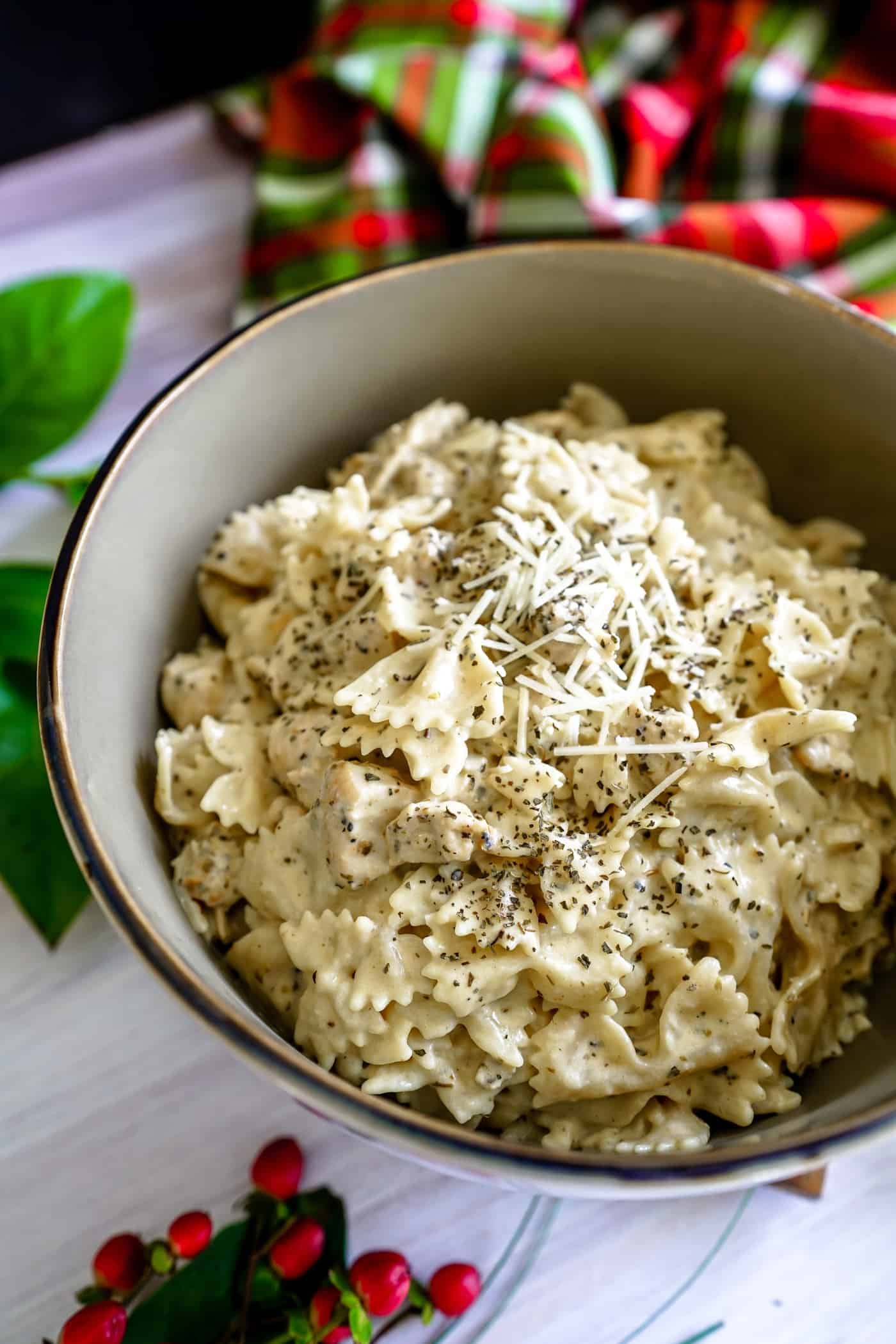Need a quick and easy dinner tonight everyone in your house will love? Look no further than this Instant Pot Creamy Chicken Pasta! Who doesn't love creamy, garlic Parmesan? Our family loves recipes in the Instant Pot. Give this Instant Pot chicken pasta a try today!