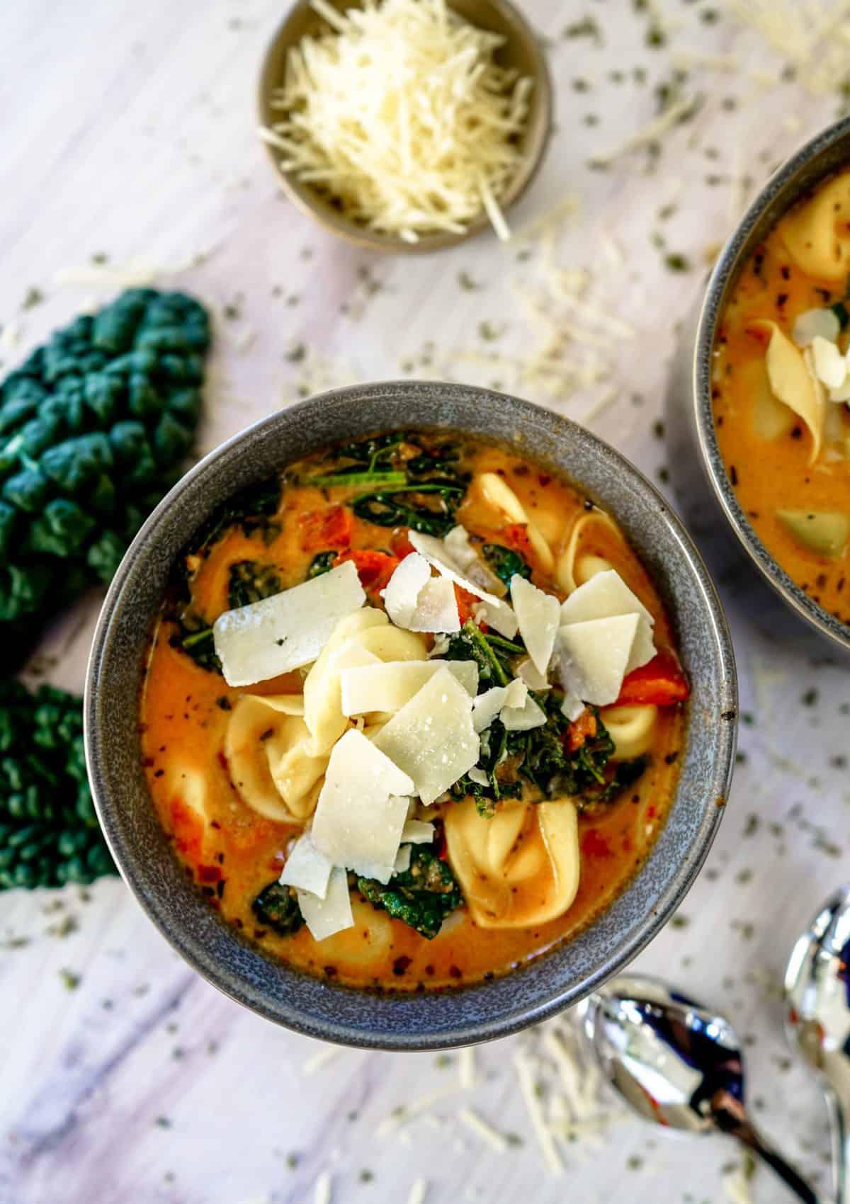 Instant Pot Tortellini Soup {Vegan Recipe Included}