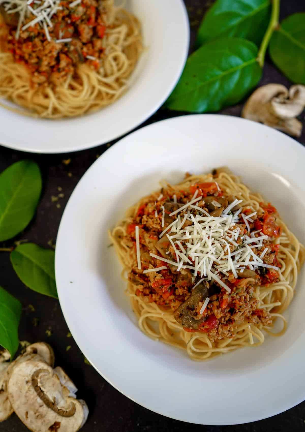 Instant Pot Bolognese, anyone?  t's cold outside!  Warm up with this most delicious Instant Pot Bolognese recipe!  I can almost guarantee it will quickly become a family favorite! This Instant Pot Bolognese recipe is dairy-free, grain-free and Whole30 friendly. Try this Instant Pot pasta recipe today and let me know what you think!