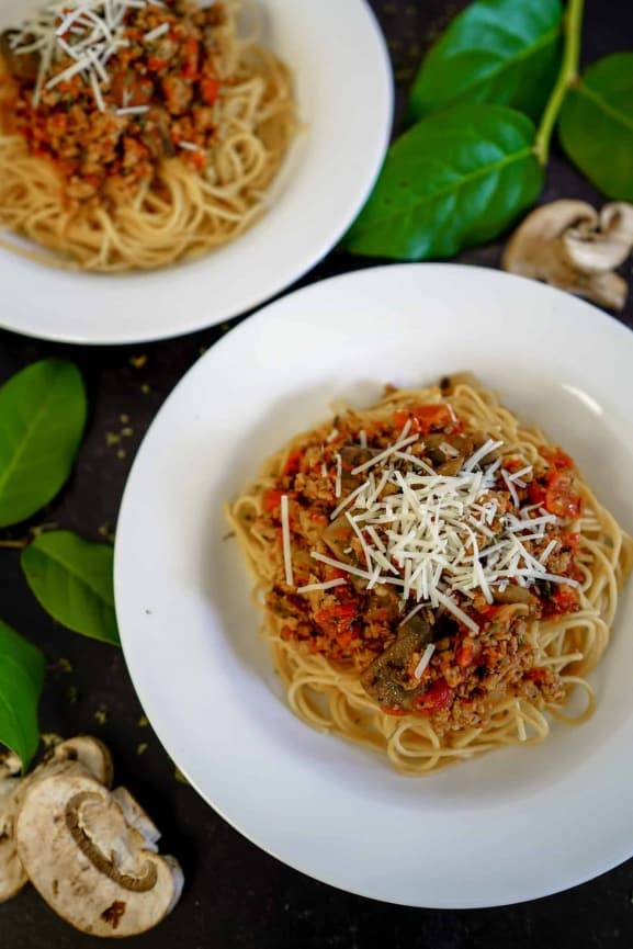 Instant Pot Bolognese, anyone? t's cold outside! Warm up with this most delicious Instant Pot Bolognese recipe! I can almost guarantee it will quickly become a family favorite!This Instant Pot Bolognese recipe is dairy-free, grain-free and Whole30 friendly. Try this Instant Pot pasta recipe today and let me know what you think!