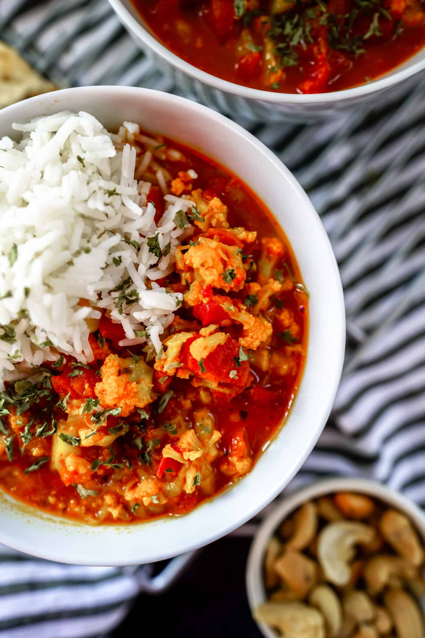 A Lily Love Affair shares a cauliflower tikka masala recipe made in the Instant Pot. Served over basmati rice