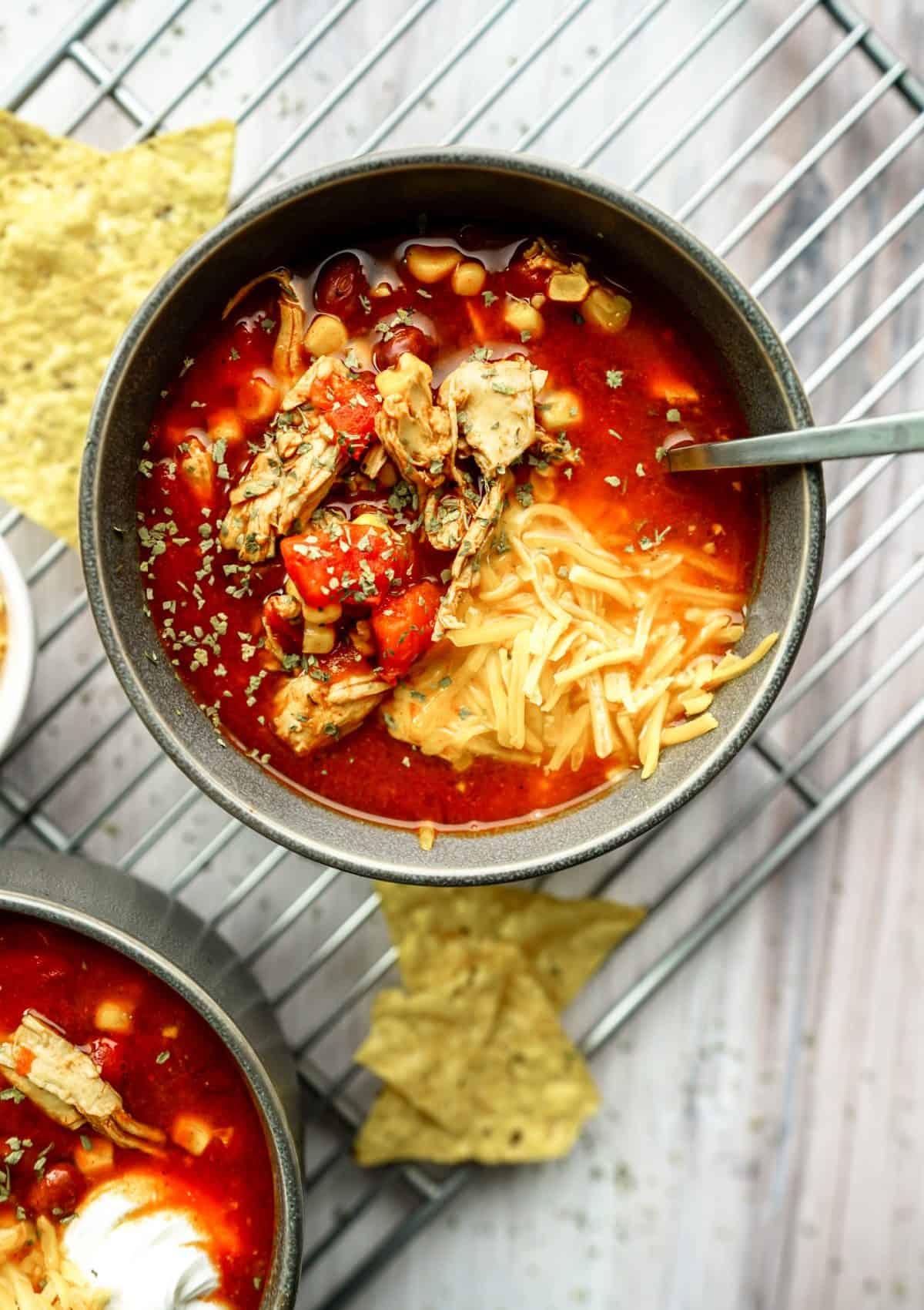 Instant Pot Chicken Enchilada Soup