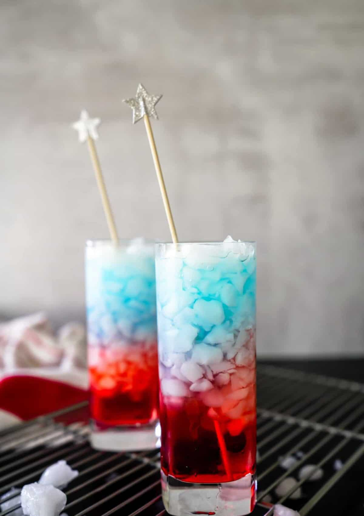 Red, White & Blue Bomb Pop Drink