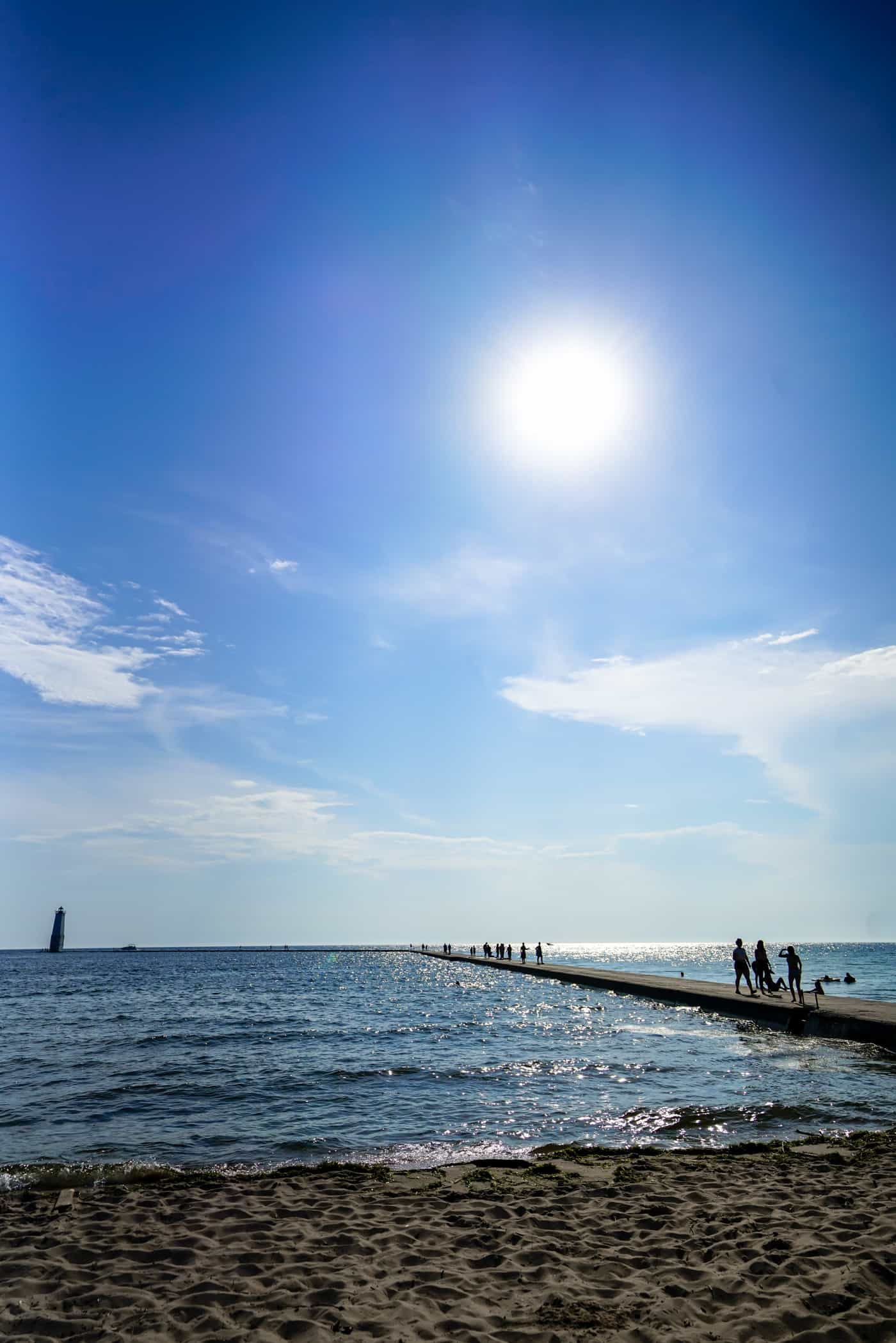 A Lily Love Affair shares Frankfort Michigan beach and lighthouse pier