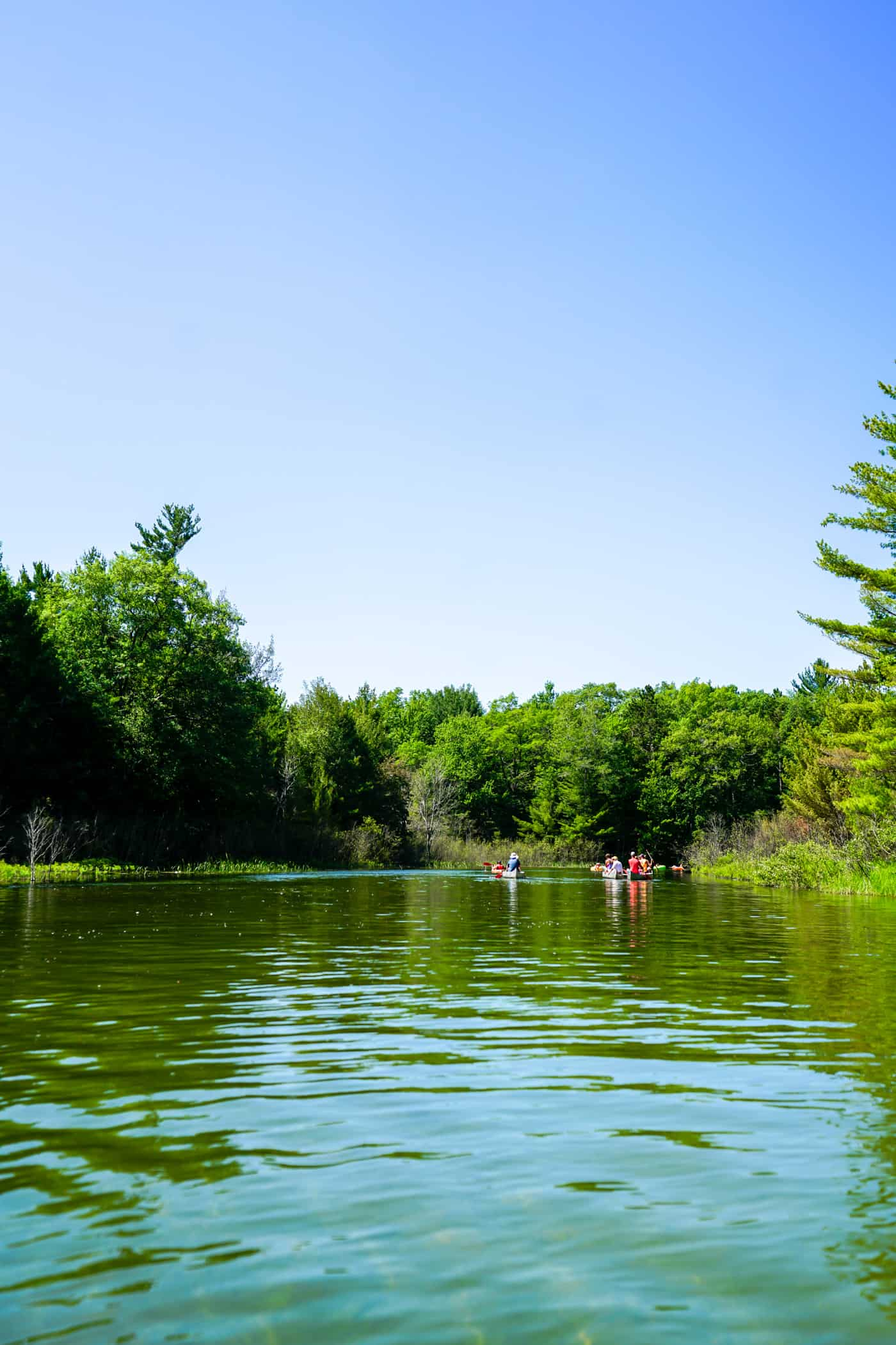 Frankfort Michigan River Kayaking and floating
