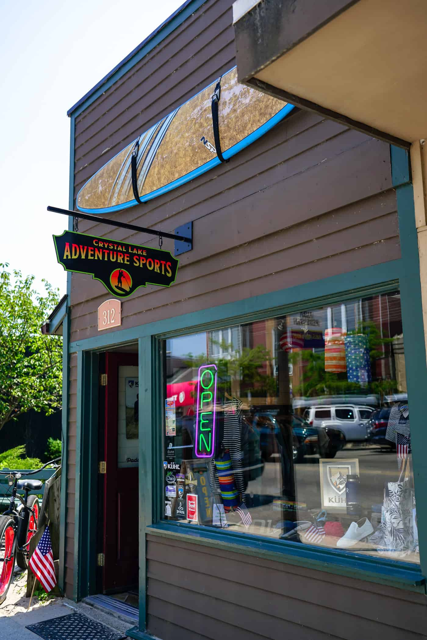 Crystal Lake Adventure Sports in downtown Frankfort Michigan