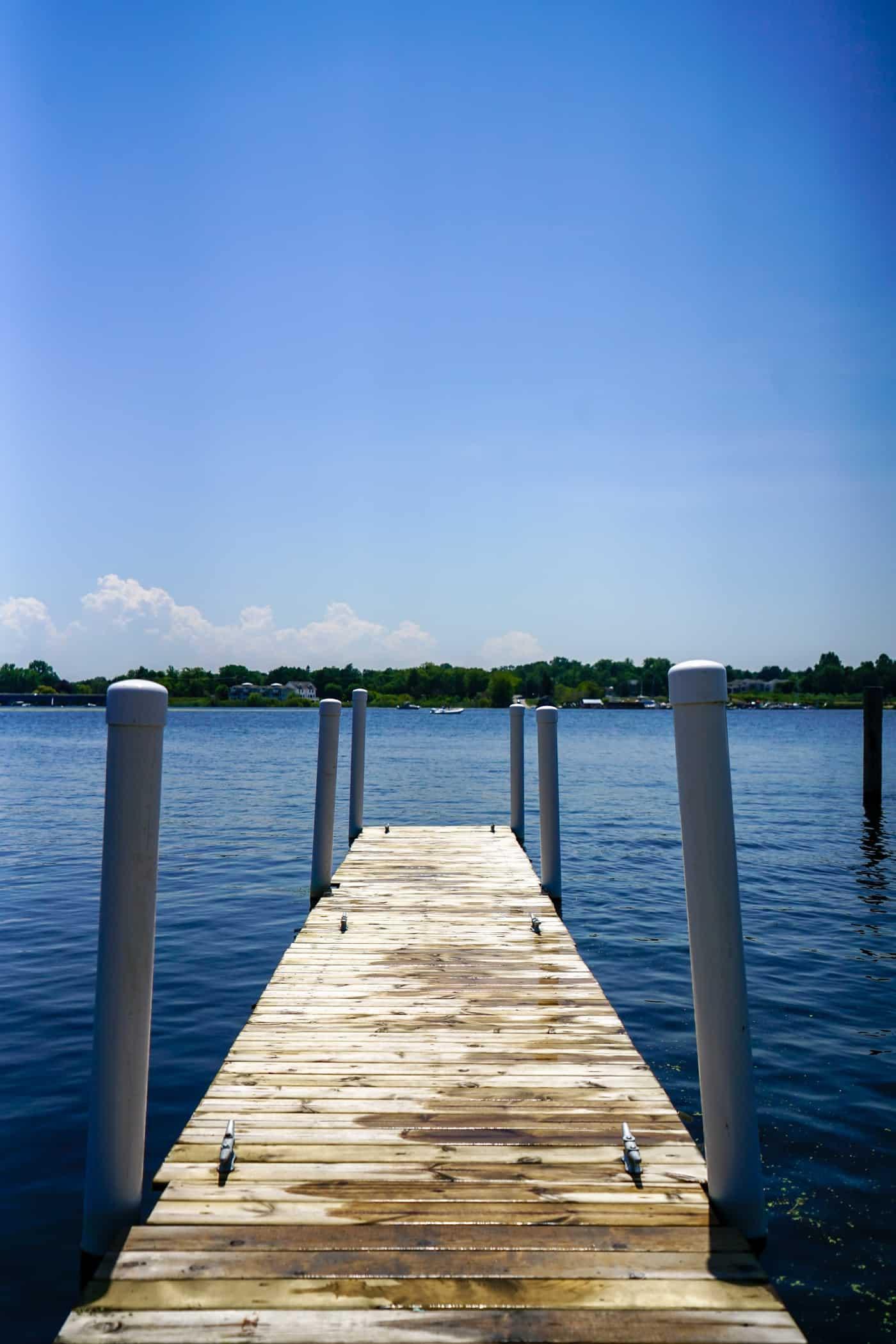 Saugatuck Michigan lakefront and dock