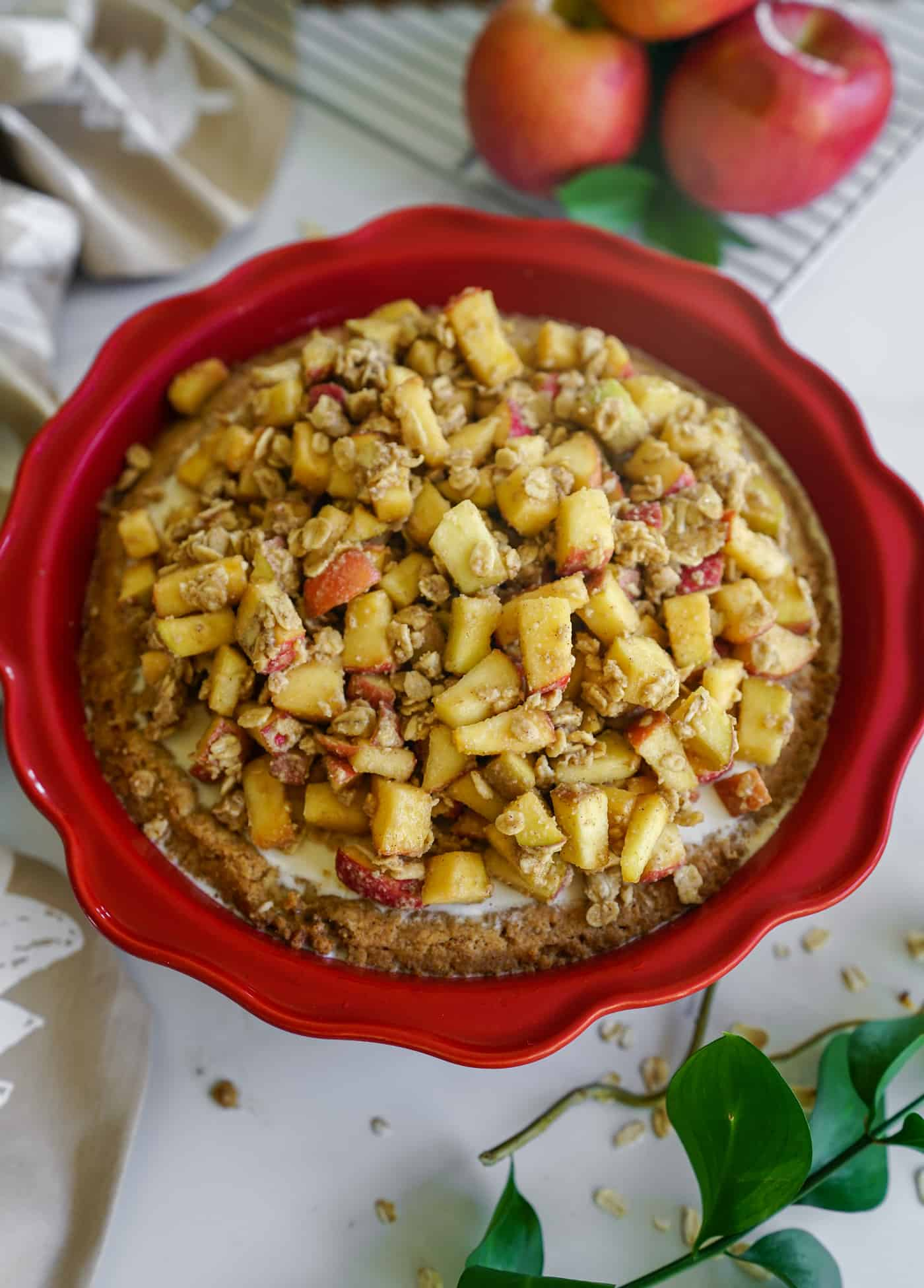 A Lily Love Affair shares an apple crisp ice cream pie recipe