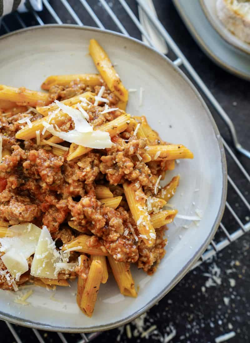 Instant Pot Penne Pasta With Spicy Italian Sausage