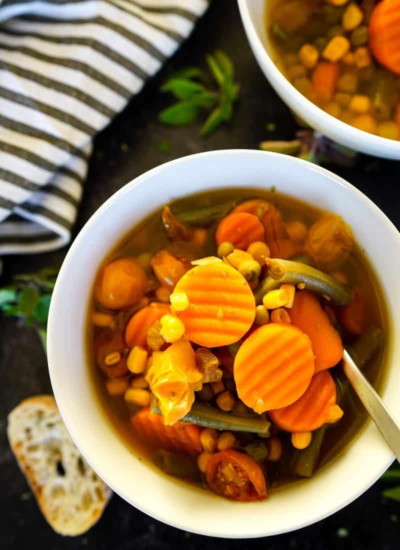Instant Pot Vegetable Soup   Easy Dump & Go Recipe