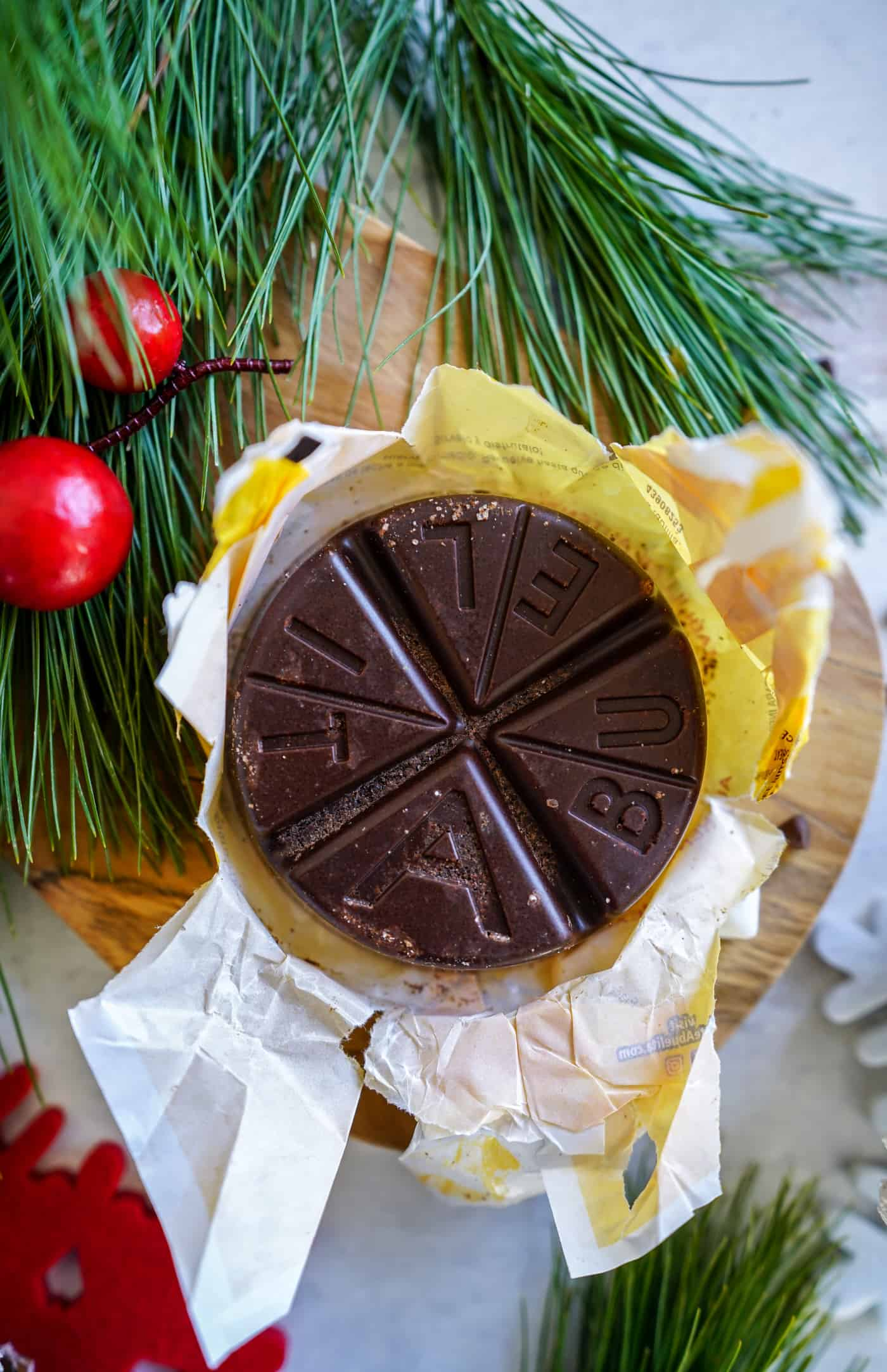 A 3-ounce tablet of mexican chocolate for mexican hot chocolate recipe