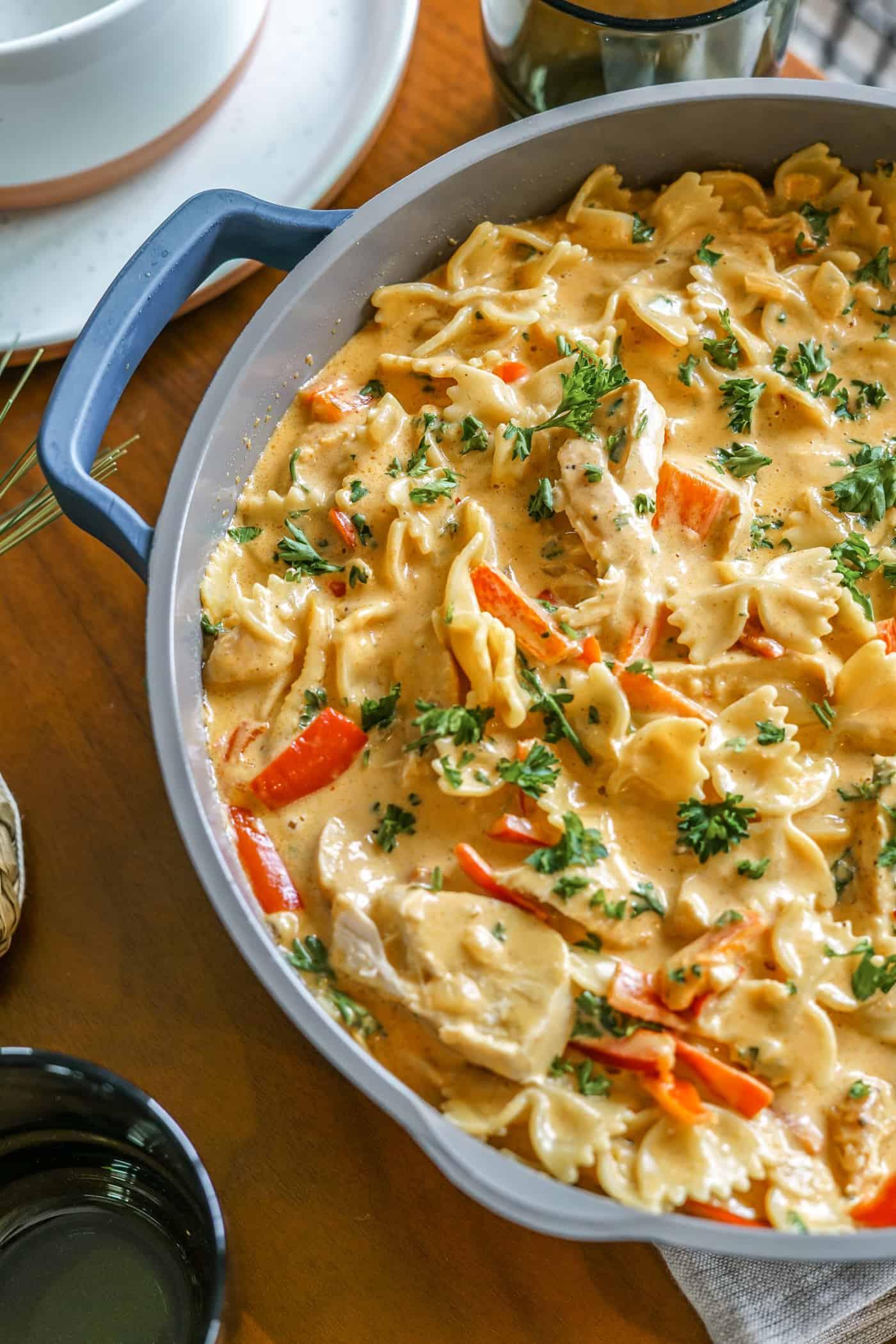 Chicken fajita pasta recipe in an our place always pan