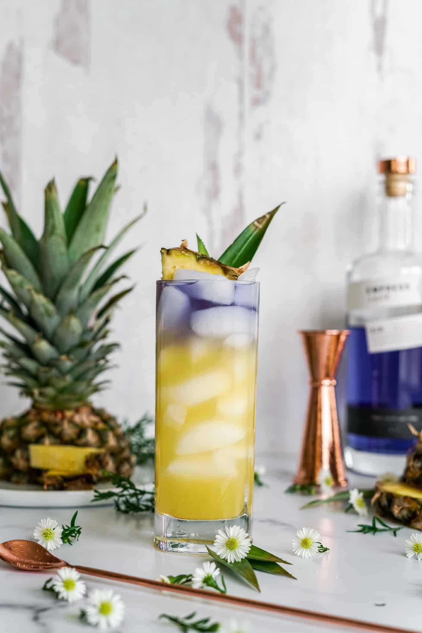 Royal Hawaiian Cocktail made with Empress 1908 Gin