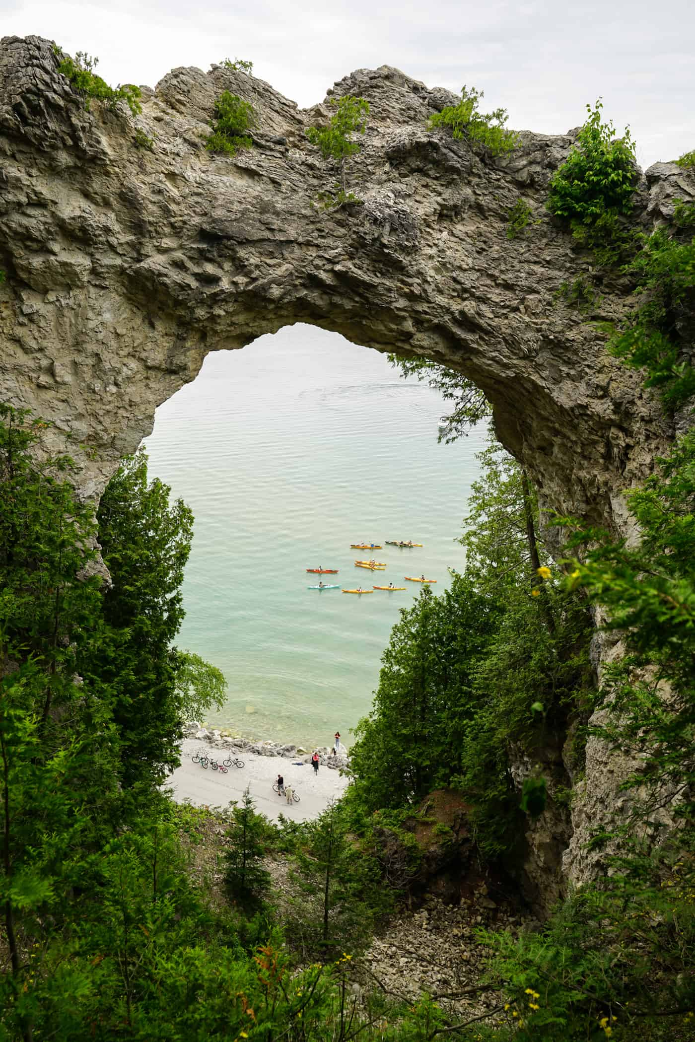 Arch Rock on Mackinac Island Michigan
