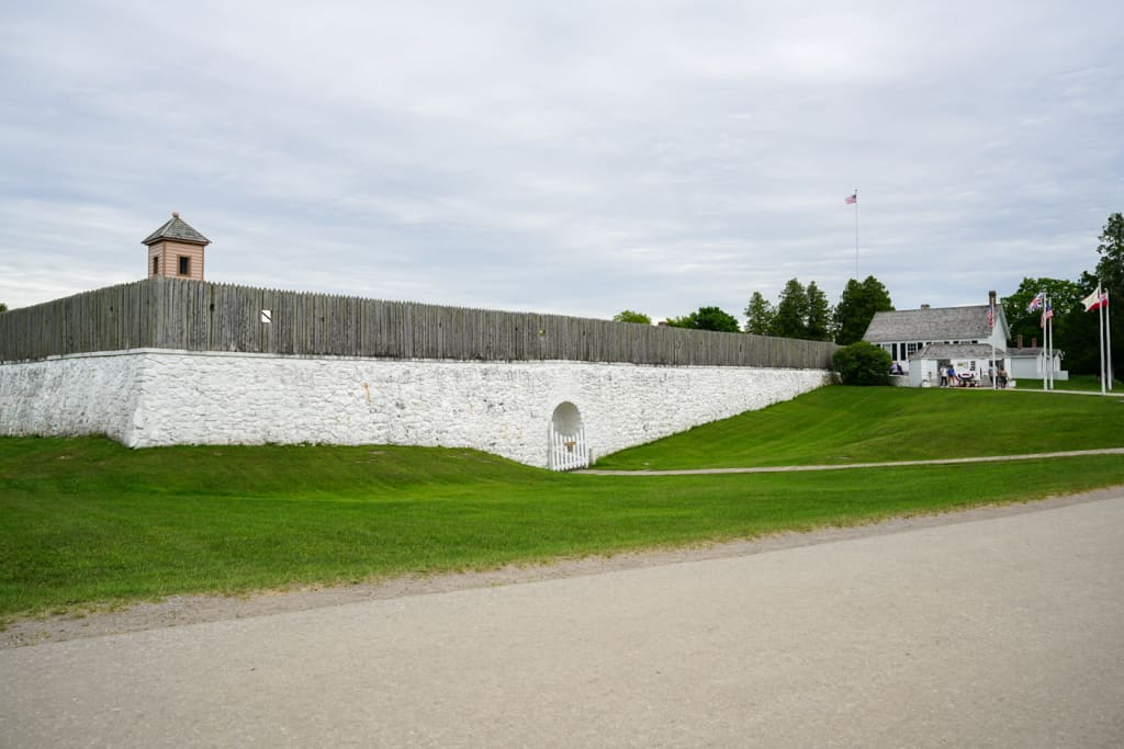 Fort Mackinac on Mackinac Island Michigan