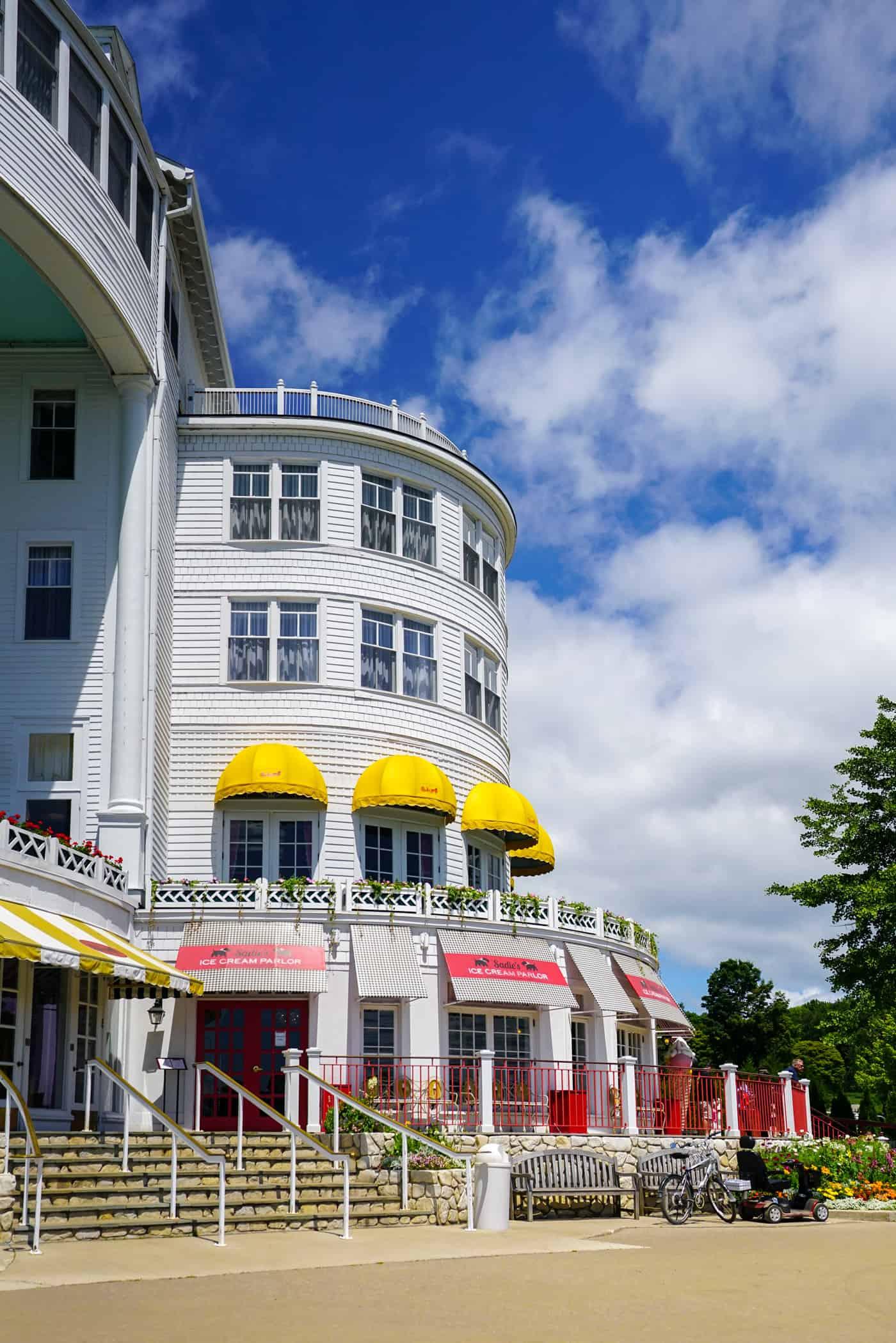 Sadie's Ice Cream Parlor at the Grand Hotel Mackinac Island
