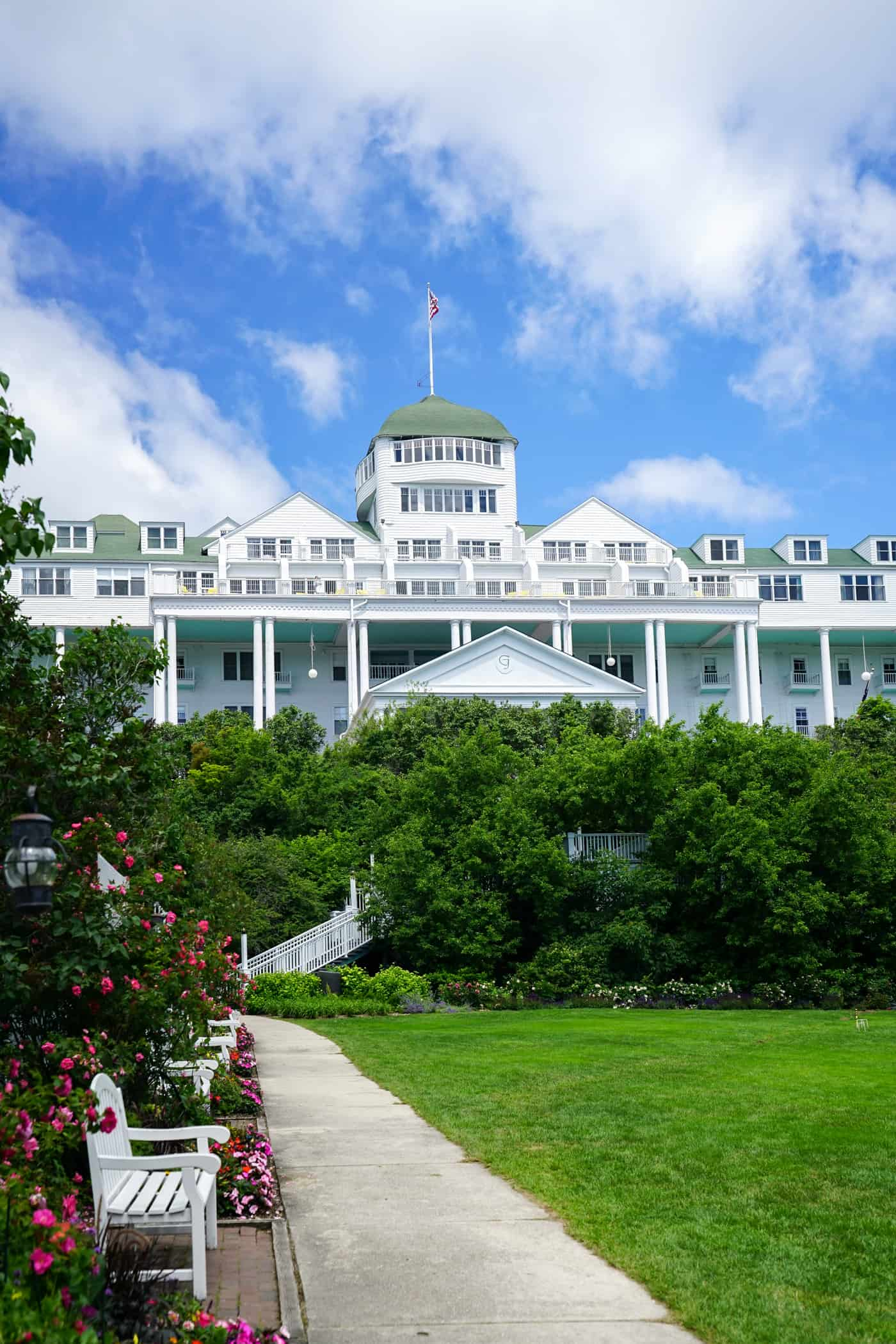 A view of the Grand Hotel from the gardens below